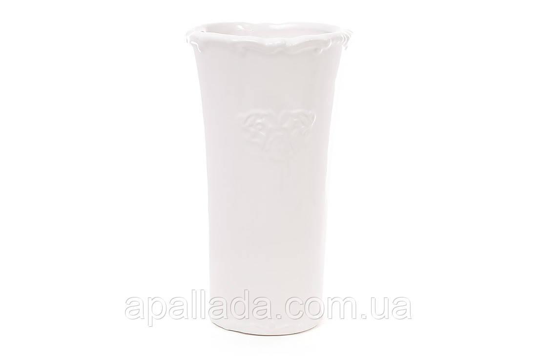 Керамическая белая ваза, 25 см