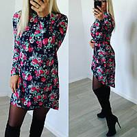 Платье-туника с хвостом