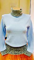 Свитер женский под горло ESPRIT голубой