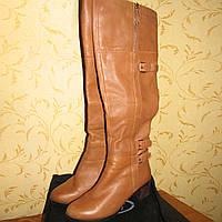 Женские кожаные сапоги ботфорды р.38 еврозима