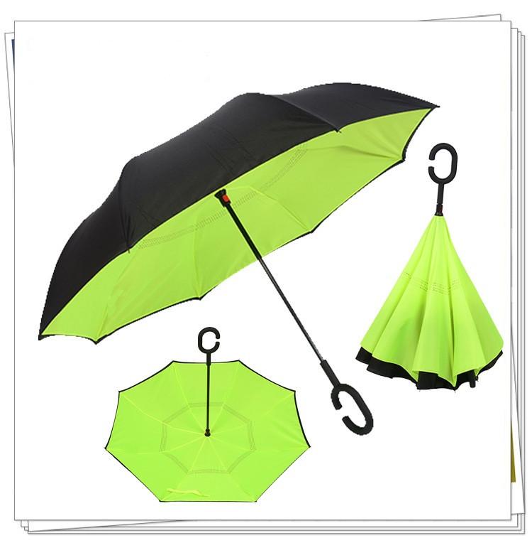 Зонт обратного сложения up-brella. Зонт наоборот