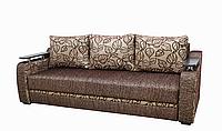 Диван Garnitur.plus Браво бежево-коричневый 220 см