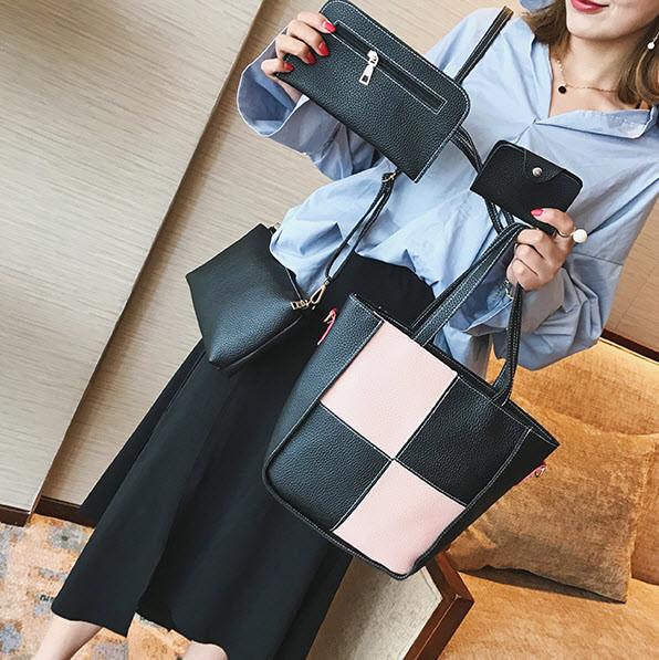Элегантный набор женских сумок для модных девушек 4в1