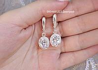 Роскошные серебряные серьги с россыпью камней