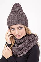 Комплект шапка и шарф-петля