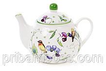 Чайник фарфоровый 900мл Птицы