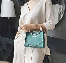 Модна міська сумочка з кільцями і міні клатчем, фото 2