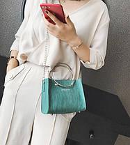Модна міська сумочка з кільцями і міні клатчем, фото 3