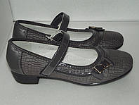 Серые школьные туфли, р. 35