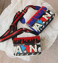 Модная сумка клатчс красочным дизайном и поясом Art , фото 3