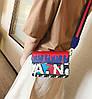 Модная сумка клатчс красочным дизайном и поясом Art , фото 4