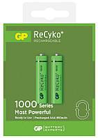 Аккумуляторы GP Batteries AAA (R03) 1000mAh LSD NiMh 2шт ReCyko+ (GP100AAAHCE-2GBE2),1.2V
