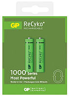 Аккумуляторы GP Batteries AAA  (R03) 1000mAh NiMh 2шт ReCyko+