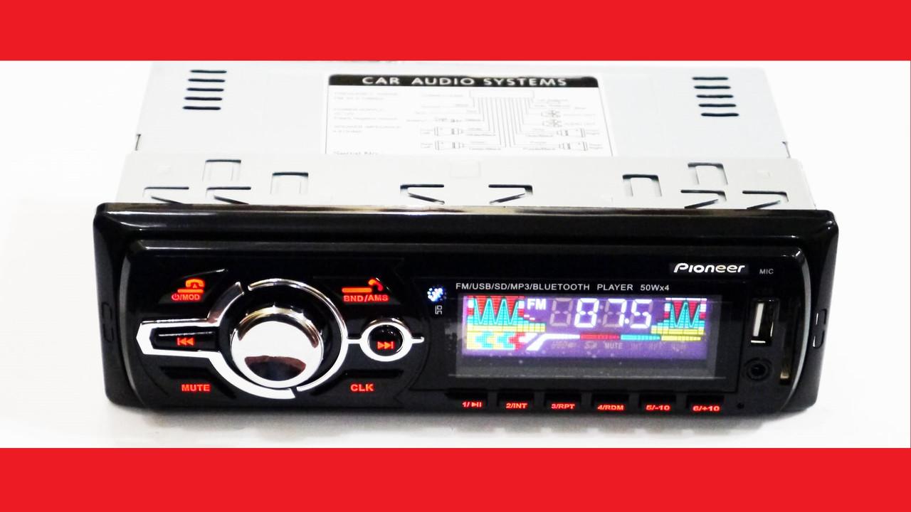 Pioneer MVH-4008U ISO + BLUETOOTH - MP3 Player, FM, USB, SD, AUX