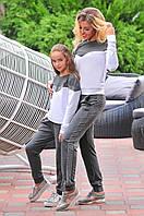 Спортивный костюм для мамы и дочки