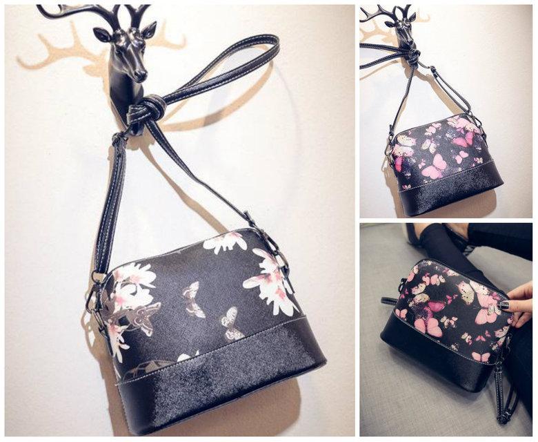 Женская сумка клатч через плечо цветочный принт