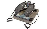 Мини-степпер TR-2644 (металл,пластик,р-р 45x22x45см,вес польз. до 100кг,счетчик,2 эспанд.,сер,чер)