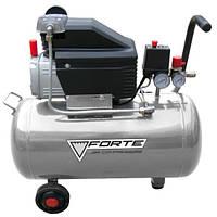 Компрессор FORTE FL-2T50 мощность двигателя 1.5 кВт, объем ресивера 50 л