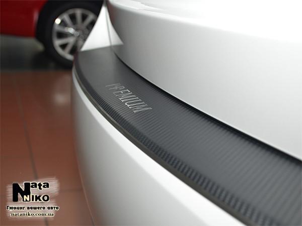 Накладка на задний бампер с загибом FIAT  LINEA FL 2012-