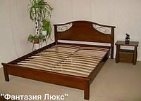 """Кровать двуспальная """"Фантазия Люкс"""". Массив дерева - сосна, ольха, береза, дуб."""