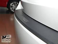 Накладка на задний бампер с загибом KIA RIO III 4D 2012-
