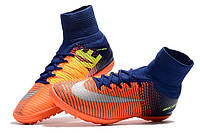 Детские футбольные сороконожки Nike MercurialX Proximo II TF Deep Royal Blue/Chrome/Total Crimson, фото 1