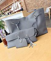 Оригинальный набор женских сумок для модных девушек 4в1 Сумка-баула, клатч, сумочка, визитница