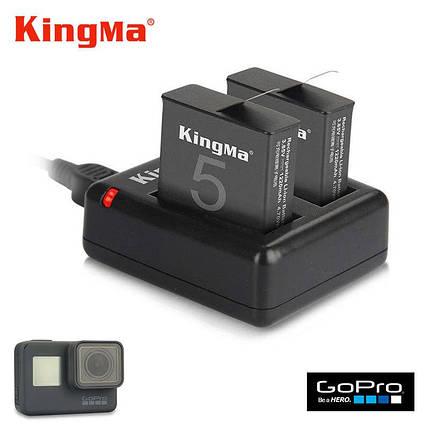 Зарядное устройство для двух аккумуляторов GoPro 5/ 6/ 7, фото 2