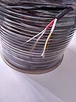 Кабель аудио-видео S-VHS 2 жилы в экране диаметр-4,8мм,цвет чёрный,длина 100м