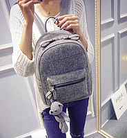 Рюкзак женский городской в клеточку шерстяной