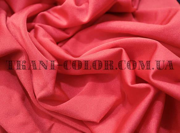 Ткань бифлекс блестящий коралловый, фото 2