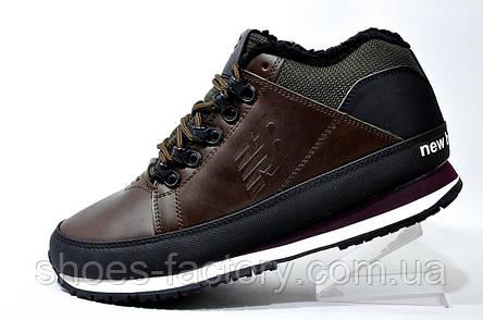 Зимние ботинки в стиле New Balance 754 на меху, кожа, фото 2