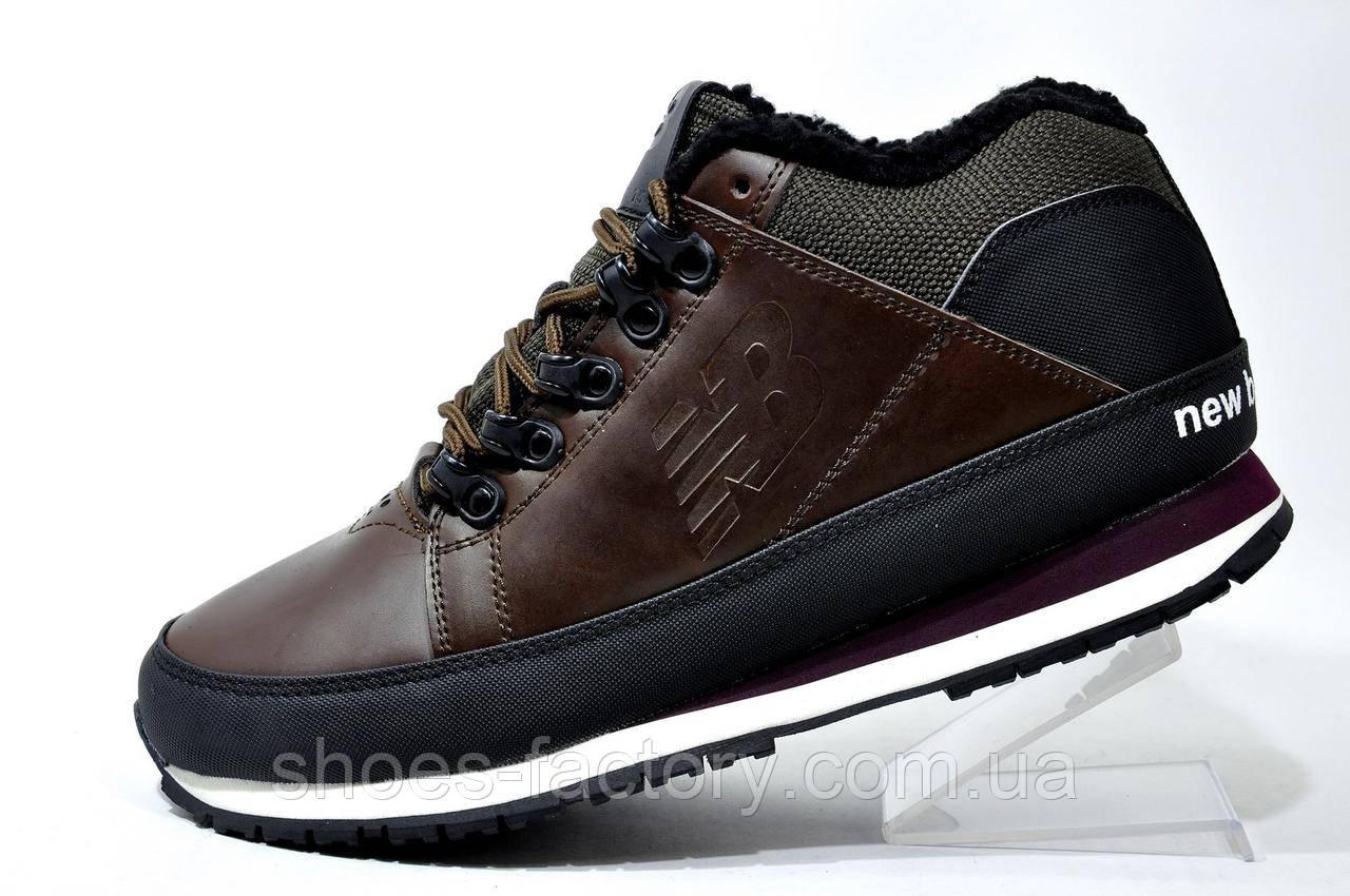 Зимние ботинки в стиле New Balance 754 на меху, кожа