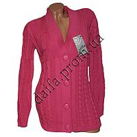 Женская вязаная кофта на пуговицах R758-3 (р-р 46-48) оптом в Одессе. Интернет-магазин Daifa.