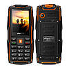 Land RoverV3+ 3sim IP68 Защищенный телефон c мощным фонариком(Power Bank) Orange(оранжевый)