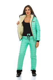 Яркий красивый Женский зимний костюм на синтепоне-200 в размерах S M L