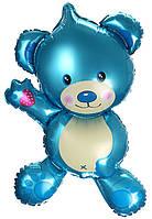 Шар воздушный фольгированный Мишка Teddy синий