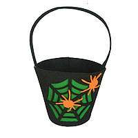 "Ведро для конфет на хэллоуин ""Паучек""- декорация на хэллоуин"
