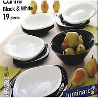 Сервиз столовый Luminarc Carine Black&White 19 пр.