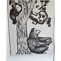 """Плед шерстяной """"SoundSleep"""" Bears (новозеландская шерсть 100%)  140х200 см"""