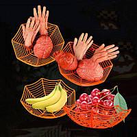 """Корзинка """"Паук"""" для конфет на хэллоуин - декорация на хэллоуин, разные цвета"""