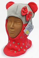 Шапка-шлем c ушками для девочки Grans, фото 1