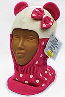 Шапка-шлем c ушками для девочки Grans