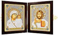 Набор для вышивки бисером икона в складне СМ7000 Богородица Казанская и Христос Спаситель