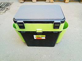 Ящик зимний Helios FishBox 19л, зеленый, ОРИГИНАЛ,(Барнаул, Россия), отличный подарок рыбаку