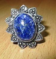 """Симпатичное  кольцо """"Цветок"""" с лазуритом, размер 18,2  от студии LadyStyle.Biz"""