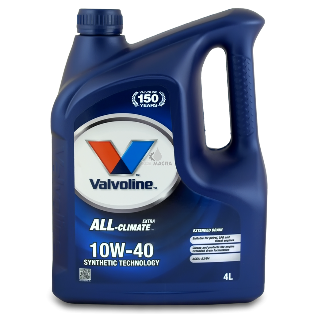 """Полусинтетическое моторное масло Valvoline All Climate 10w-40 4l - Моторные и трансмиссионные масла, присадки, фильтры от   """"AVTODRIVE"""" в Бердянске"""