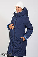Зимнее теплое пальто для беременных ANGIE, синее