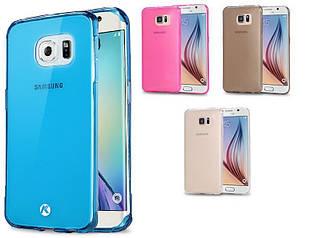 Силиконовый чехол для Samsung Galaxy S6 Edge G925 супертонкий 0.3 мм