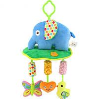 Мягкая подвеска - погремушка Слон Happy Monkey